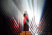 Singer Meghan Trainor performs onstage at the iHeartRadio Music Awards which broadcasted live on TBS TNT AND TRUTV from The Forum on April 3 2016 in...