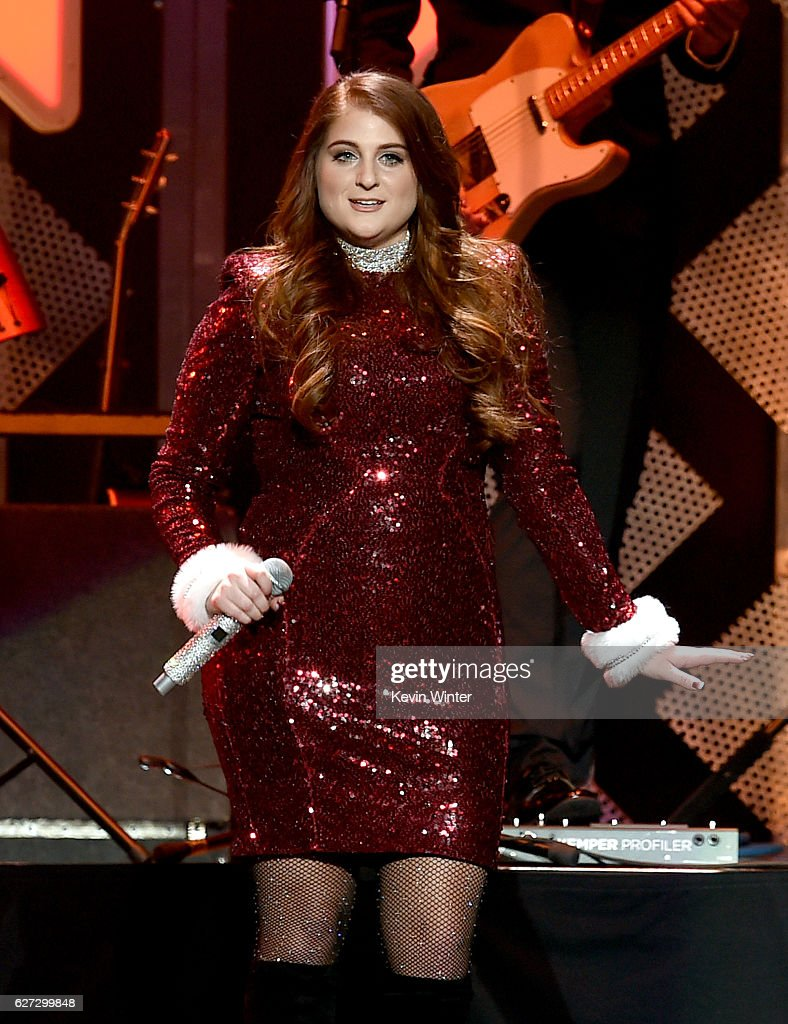 Singer Meghan Trainor performs onstage during 102.7 KIIS FM's Jingle Ball 2016 presented by Capital One at Staples Center on December 2, 2016 in Los Angeles, California.