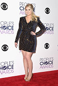 Singer Meghan Trainor winner of Favorite Album for 'Title' poses in the press room during the People's Choice Awards 2016 at Microsoft Theater on...