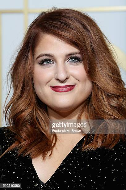 Singer Meghan Trainor winner of the Best New Artist award poses in the press room during The 58th GRAMMY Awards at Staples Center on February 15 2016...