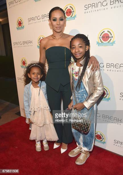 Singer Mel B and family attend City Year Los Angeles Spring Break on May 6 2017 in Los Angeles California
