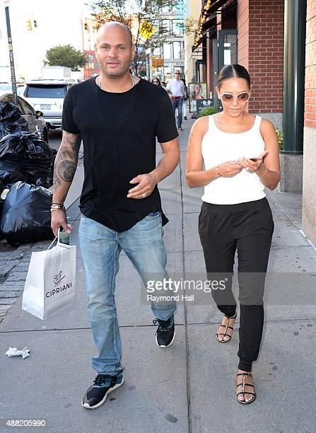 Singer Mel B and Stephen Belafonte are seen walking in Soho on September 14 2015 in New York City