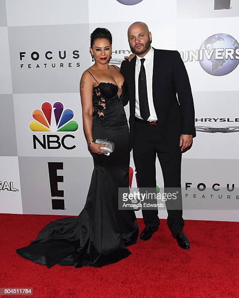 Singer Mel B and Stephen Belafonte arrive at NBCUniversal's 73rd Annual Golden Globes After Party at The Beverly Hilton Hotel on January 10 2016 in...