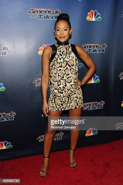 Singer Mel B attends the 'America's Got Talent' Post Show Red Carpet at Radio City Music Hall on August 13 2014 in New York City