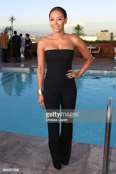 Singer Mel B attends the Los Angeles Confidential celebration of the Women of Influence issue with Robin Wright on June 4 2014 in Beverly Hills...
