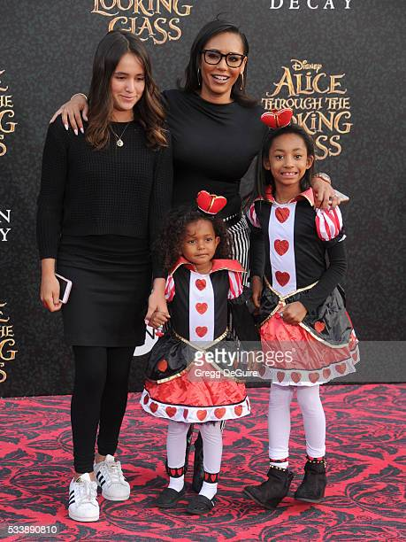 Singer Mel B daughters Madison Belafonte Angel Iris Murphy Brown and Giselle Belafonte arrive at the premiere of Disney's 'Alice Through The Looking...