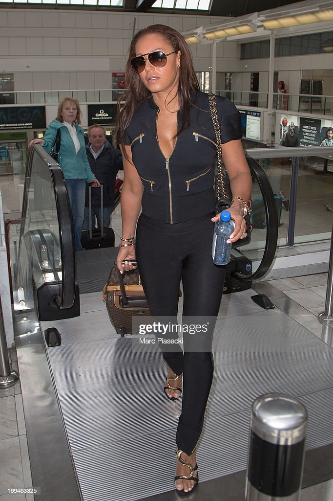 Singer Mel B is sighted at Nice airport during the 66th Annual Cannes Film Festival on May 25, 2013 in Nice, France.