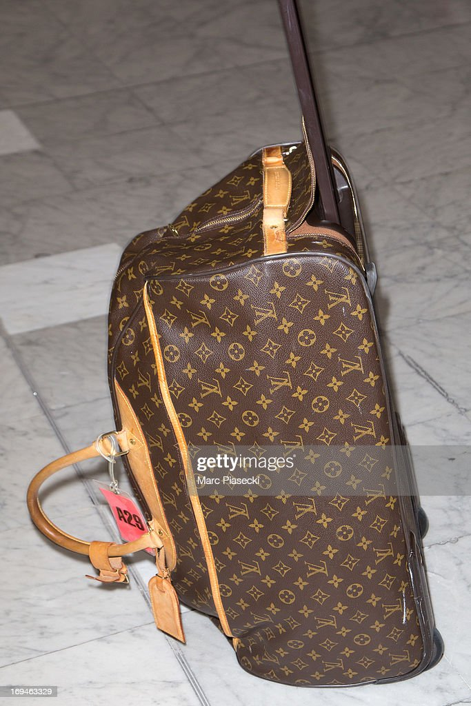 Singer Mel B (luggage detail) is sighted at Nice airport during the 66th Annual Cannes Film Festival on May 25, 2013 in Nice, France.