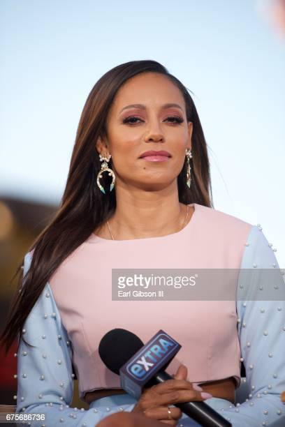 Singer Mel B of NBC's 'America's Got Talent' visits 'Extra' at Universal Studios Hollywood on May 1 2017 in Universal City California