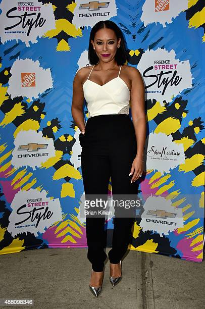 Singer Mel B poses backstage during the 2015 Essence Street Style Block Party on September 13 2015 in New York City