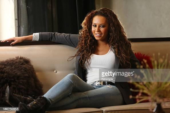 Singer Mel B poses during a photo shoot at the QT Hotel on October 29 2013 in Sydney Australia