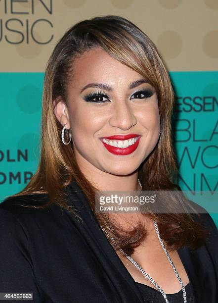 Singer Melanie Amaro attends Essence Magazine's 5th Annual Black Women in Music event at 1 OAK on January 22 2014 in West Hollywood California