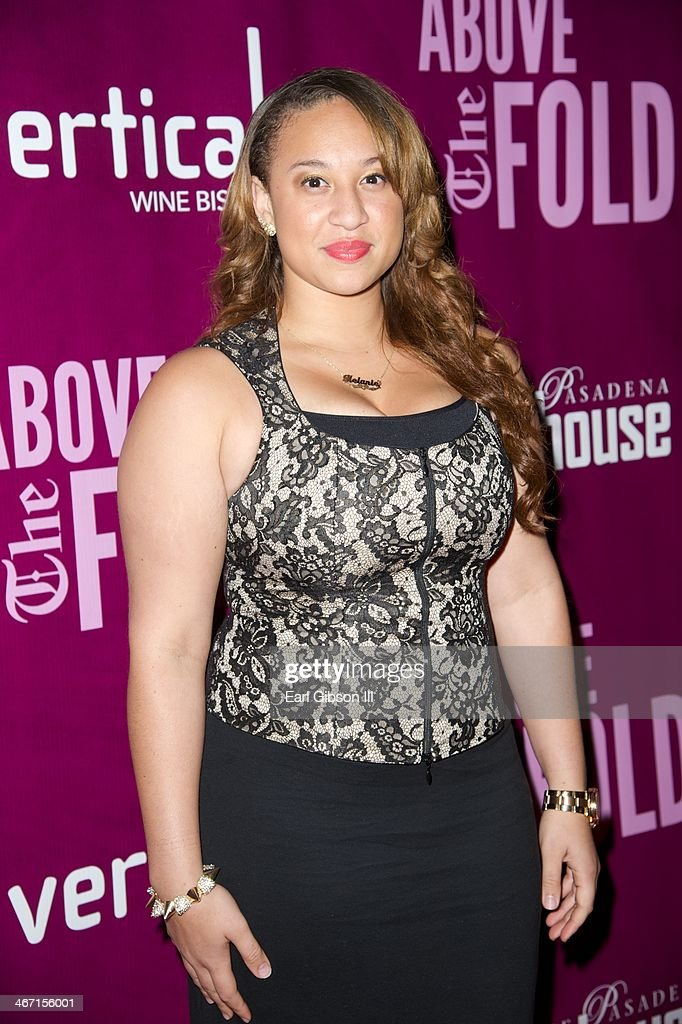 Singer Melanie Amaro attends the opening night of 'Above the Fold' at Pasadena Playhouse on February 5, 2014 in Pasadena, California.