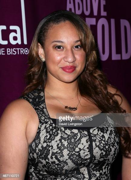 Singer Melanie Amaro attends the opening night performance of 'Above the Fold' at the Pasadena Playhouse on February 5 2014 in Pasadena California