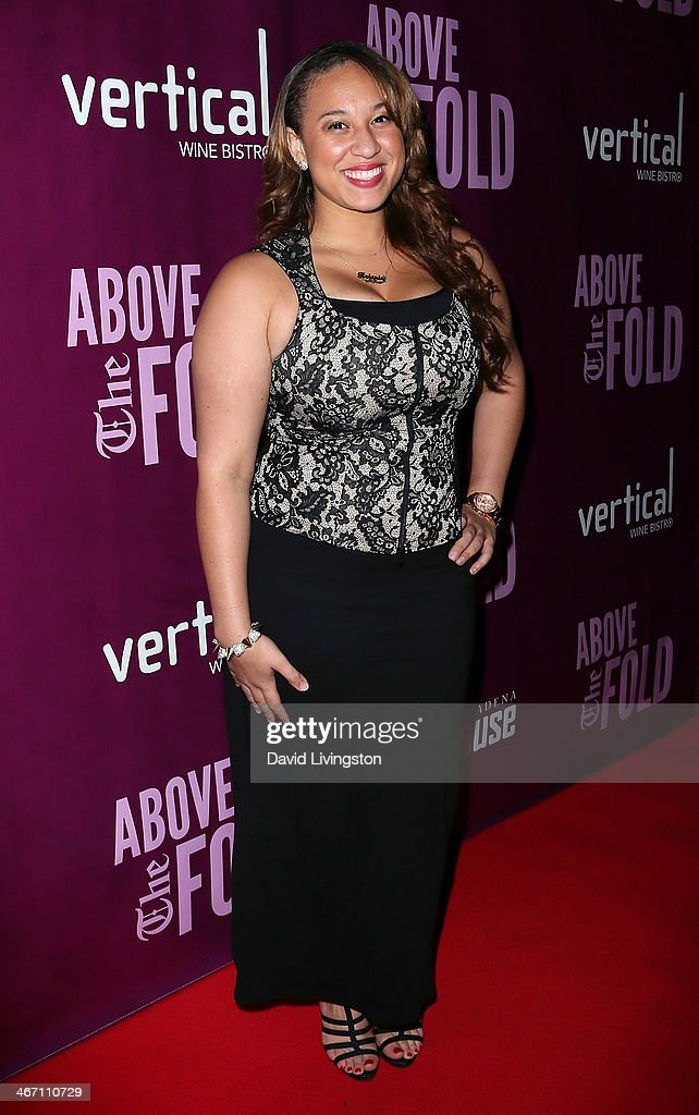 Singer Melanie Amaro attends the opening night performance of 'Above the Fold' at the Pasadena Playhouse on February 5, 2014 in Pasadena, California.
