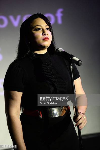 Singer Melanie Amaro of XFactor performs at The Attic on February 4 2015 in Hollywood California