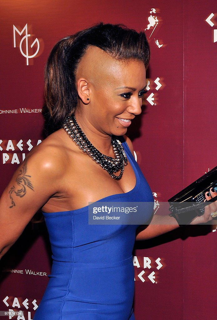 Singer Melanie Brown arrives at the grand opening of 'Matt Goss Live from Caesars Palace' March 12, 2010 in Las Vegas, Nevada.