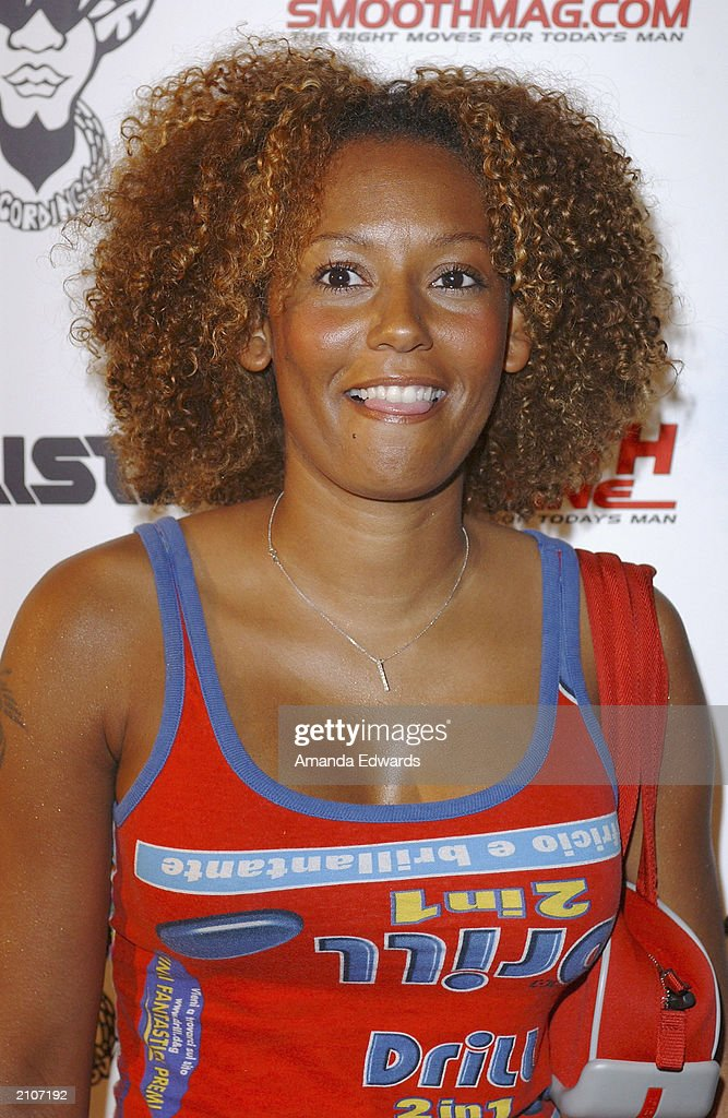 Singer Melanie Brown (aka Scary Spice) arrives at the Smooth Pre-BET party at Club A.D. on June 23, 2003 in Los Angeles, California.