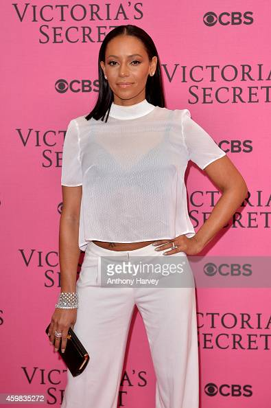 Singer Melanie Brown attends the pink carpet of the 2014 Victoria's Secret Fashion Show on December 2 2014 in London England
