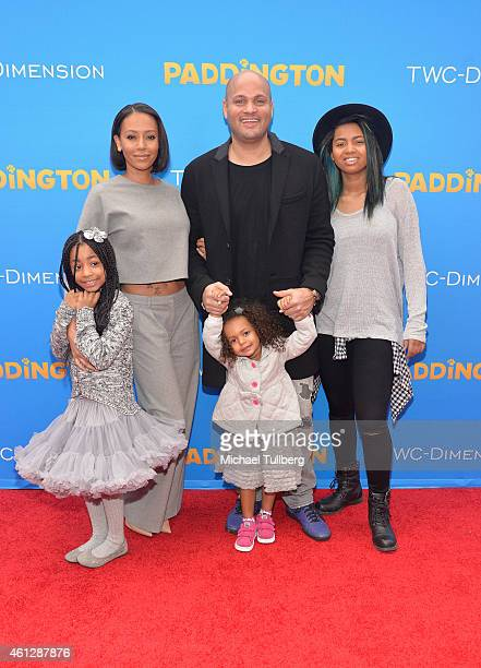 Singer Melanie Brown husband Stephen Belafonte and family attend the premiere of TWCDimension's film 'Paddington' at TCL Chinese Theatre IMAX on...