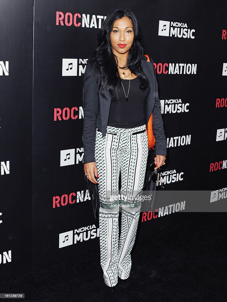 Singer Melanie Fiona arrives at Roc Nation Hosts Annual Private Pre-GRAMMY Brunch at Soho House on February 9, 2013 in West Hollywood, California.