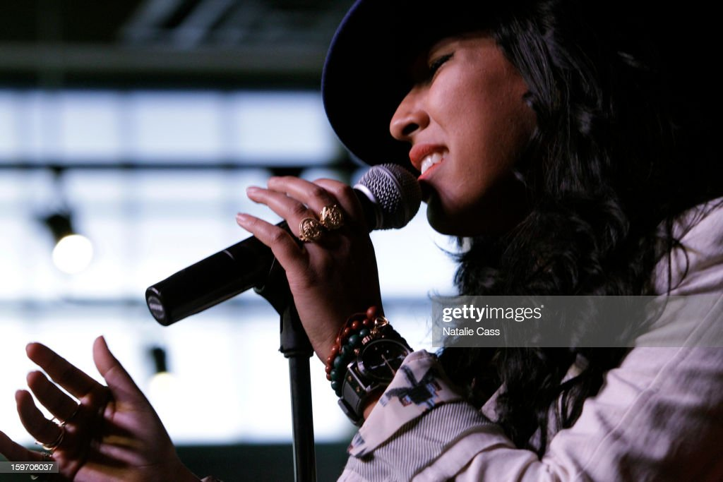 Singer Melanie Fiona attends ASCAP Music Cafe Day 1 at Sundance ASCAP Music Cafe during the 2013 Sundance Film Festival on January 18, 2013 in Park City, Utah.
