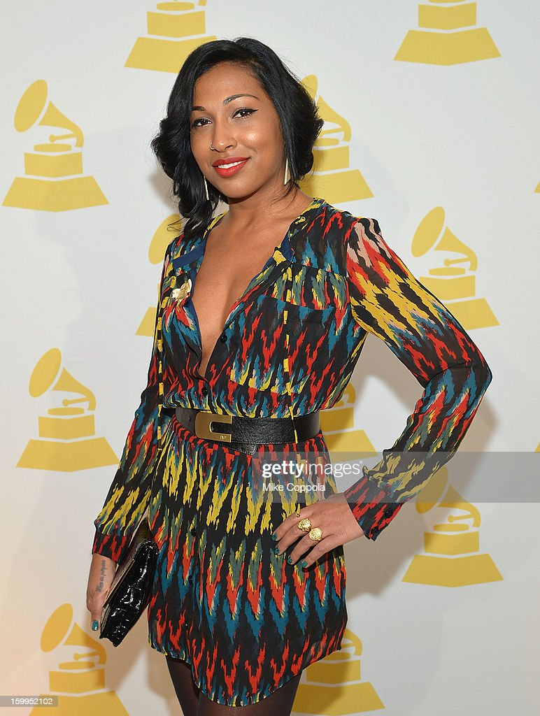 Singer Melanie Fiona attends GRAMMY Nominee Reception at The Recording Academy NY Chapter on January 23, 2013 in New York City.