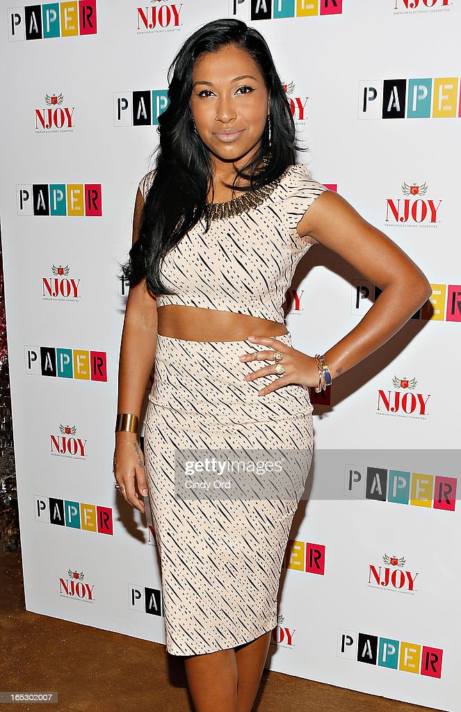 Singer Melanie Fiona attends Paper Magazine's 16th Annual Beautiful People Party at Top of The Standard Hotel on April 2, 2013 in New York City.