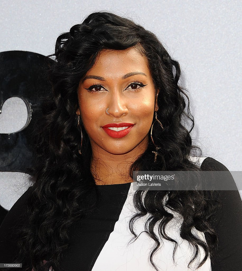 Singer Melanie Fiona attends the 2013 BET Awards at Nokia Theatre LA Live on June 30 2013 in Los Angeles California