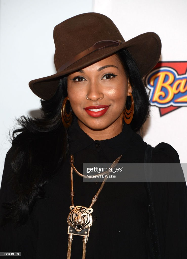 Singer Melanie Fiona attends the '42' event honoring Jackie Robinson at the Brooklyn Academy of Music on March 25, 2013 in New York City.