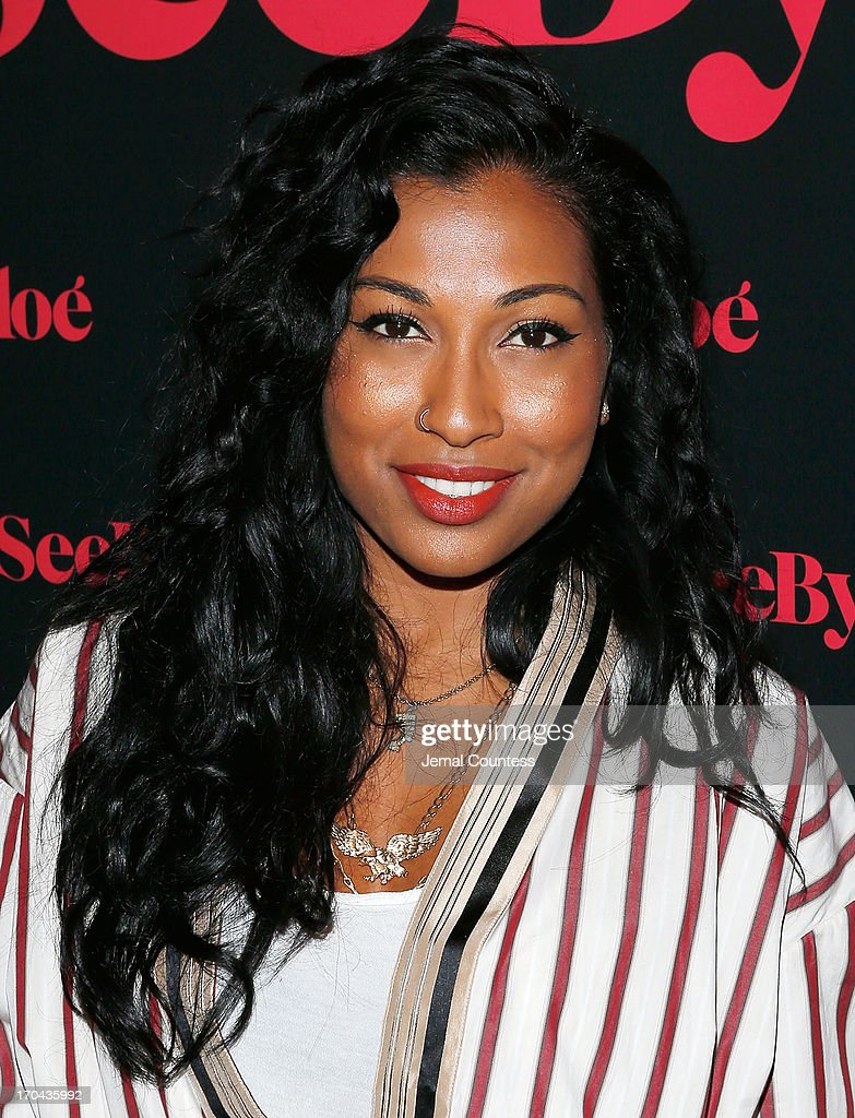 Singer <a gi-track='captionPersonalityLinkClicked' href=/galleries/search?phrase=Melanie+Fiona&family=editorial&specificpeople=5543211 ng-click='$event.stopPropagation()'>Melanie Fiona</a> attends the SeeByChloe Spring 2014 collection and premiere fragrance celebration at Industria Superstudio on June 12, 2013 in New York City.