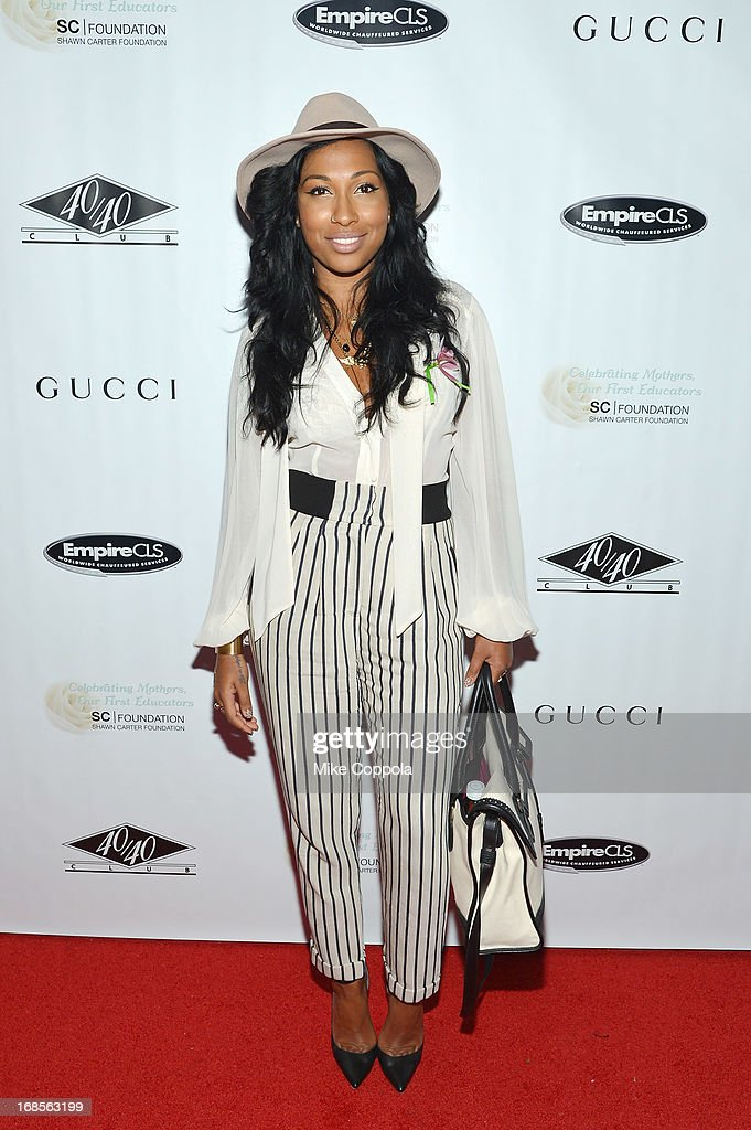 Singer Melanie Fiona attends the Shawn Carter Foundation's Mother's Day event 'Celebrating Mothers, Our First Educators' at 40 / 40 Club on May 11, 2013 in New York City.