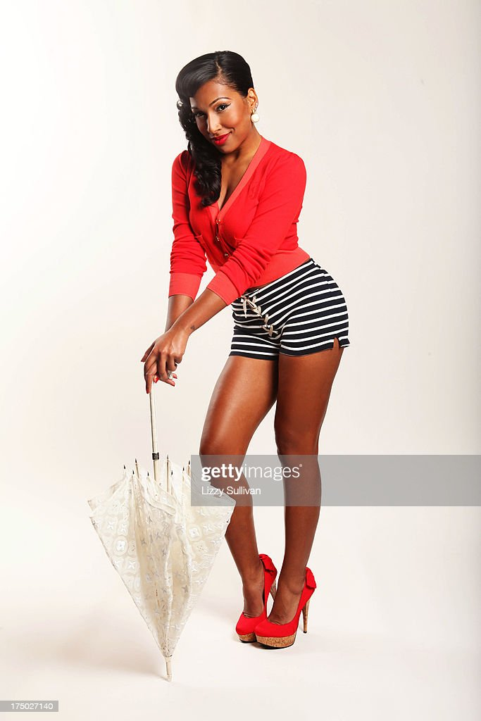 Singer Melanie Fiona poses for a portrait in a studio on March 14 2012 in New York City New York
