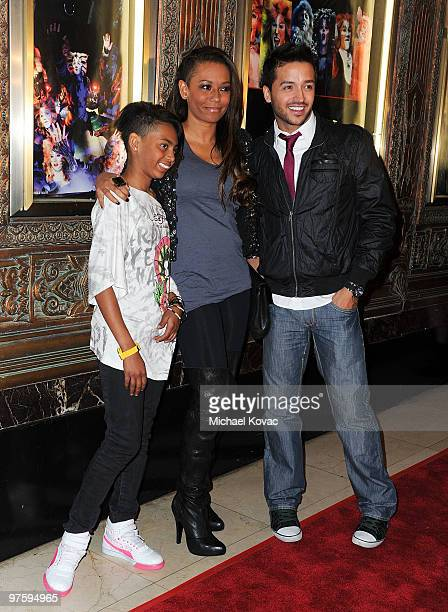 Singer Melanie Janine 'Mel B' Brown daughter Phoenix Chi Gulzar and TV personality Jai Rodriguez attend the opening night of 'CATS' at the Pantages...