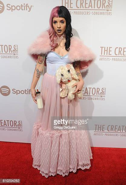 Singer Melanie Martinez arrives at The Creators Party Presented by Spotify Cicada Los Angeles at Cicada on February 13 2016 in Los Angeles California
