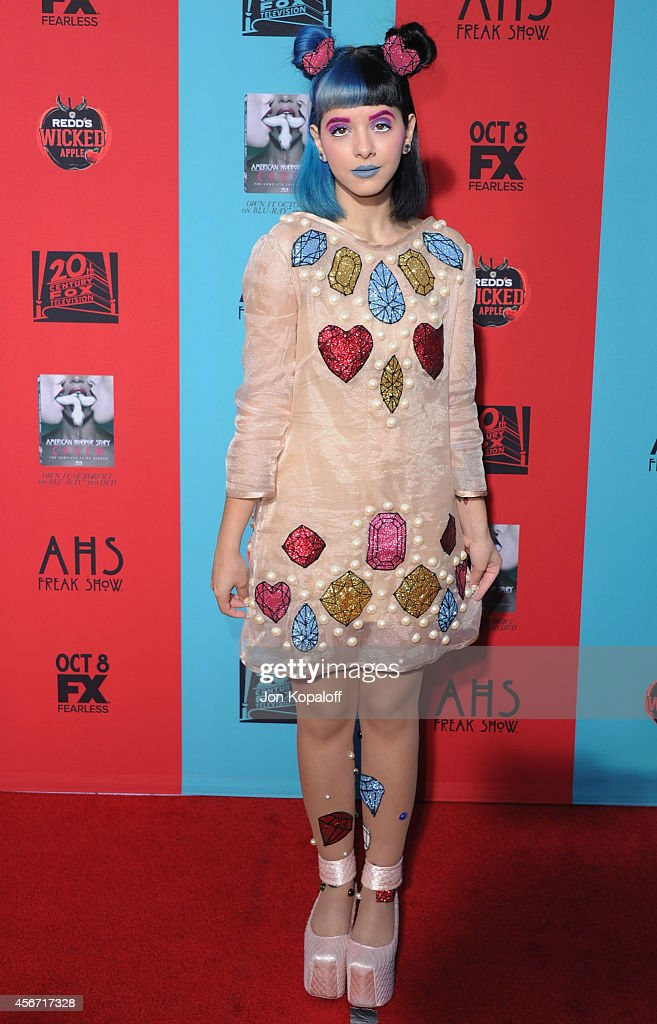 Singer Melanie Martinez arrives at the Los Angeles Premiere 'American Horror Story Freak Show' at TCL Chinese Theatre IMAX on October 5 2014 in...