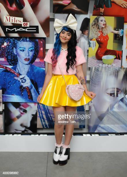 Singer Melanie Martinez attends MAC Cosmetics and Miles Aldridge celebrate NYC Rizzoli book launch Miles Of MAC at Steven Kasher Gallery on September...