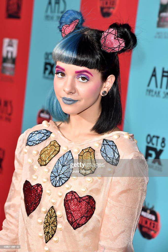 Singer Melanie Martinez attends the premiere screening of FX's 'American Horror Story Freak Show' at TCL Chinese Theatre on October 5 2014 in...