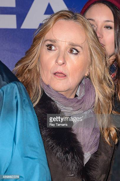 Singer Melissa Etheridge leaves the New Year's Eve 2014 Celebration in Times Square on December 31 2013 in New York City
