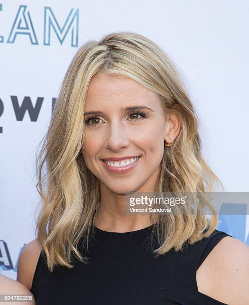 Singer Melissa Schuman of DREAM attends the My2k tour launch with 98 Degrees OTown Dream and Ryan Cabrera at Faculty on April 26 2016 in Los Angeles...