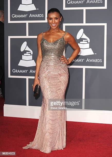 Singer Melody Thornton arrives at the 52nd Annual GRAMMY Awards held at Staples Center on January 31 2010 in Los Angeles California