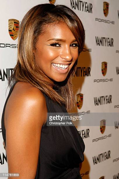 Singer Melody Thornton arrives at the launch of the new Porsche Panamera celebrated by Porsche and Vanity Fair held at Milk Studios on September 24...