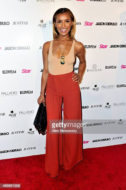 Singer Melody Thornton attends Star Magazine's Hollywood Rocks Event with Jason Derulo at The Argyle on April 15 2015 in Hollywood California