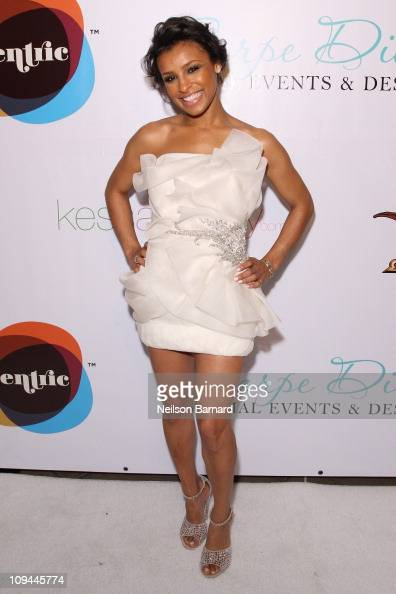 Singer Melody Thornton attends the 2011 'Eye On Black' A Salute To Directors at California African American Museum on February 25 2011 in Los Angeles...