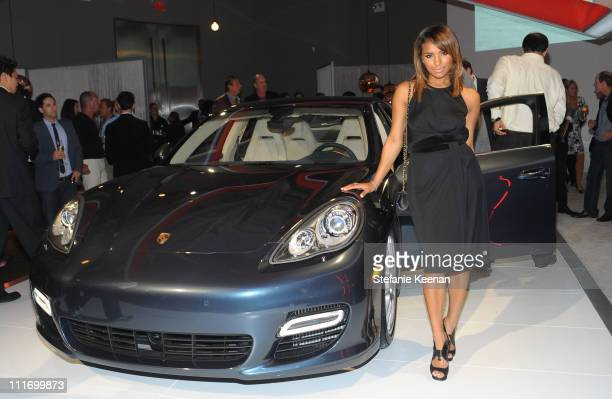 Singer Melody Thornton attends the launch of the new Porsche Panamera celebrated by Porsche and Vanity Fair held at Milk Studios on September 24 2009...