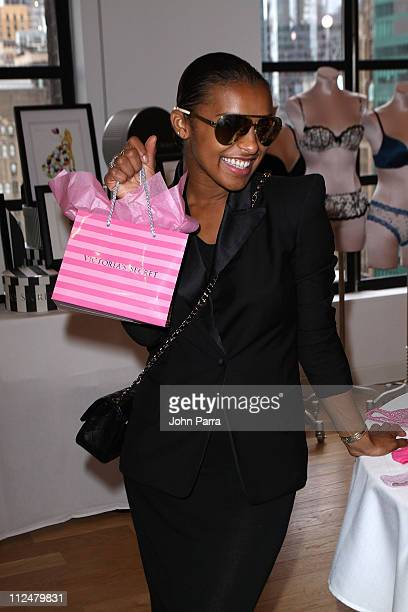 **EXCLUSIVE** Singer Melody Thornton attends the Victoria's Secret Fashion Week Suite at Bryant Park Hotel on September 16 2009 in New York City