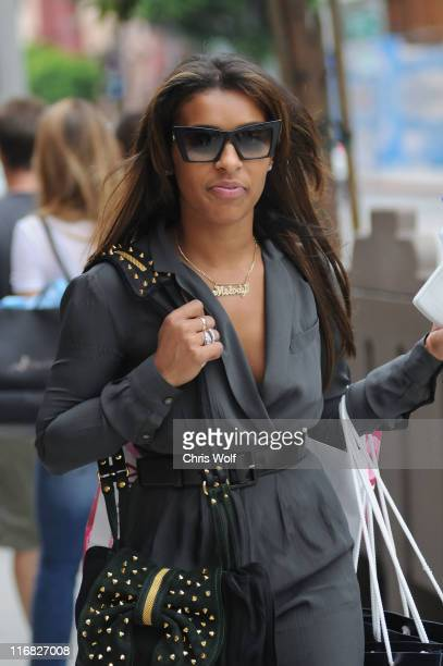 Singer Melody Thornton is seen in West Hollywood on August 21 2009 in Los Angeles California