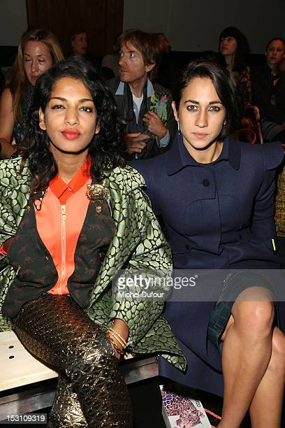 Singer MIA and Delfina Delettrez attend the Kenzo Spring / Summer 2013 show as part of Paris Fashion Week at Maison Du Judo on September 30 2012 in...