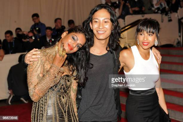 Singer MIA deisigner Alexander Wang and Zoe Kravitz attend the Costume Institute Gala Benefit to celebrate the opening of the 'American Woman...