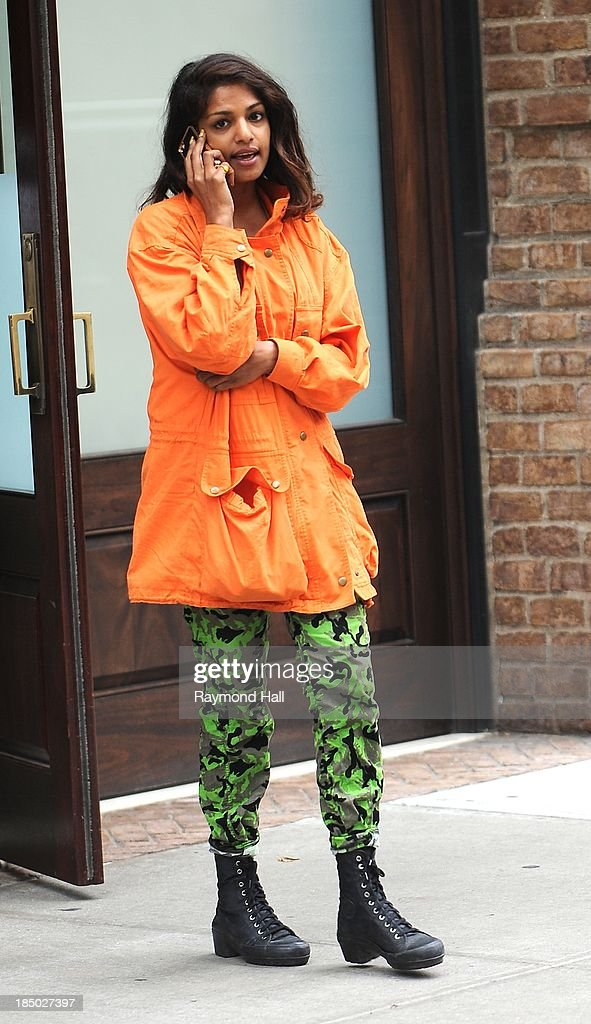 Singer M.I.A. is seen in Soho on October 16, 2013 in New York City.